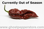Fresh Chocolate Ghost Peppers 1 Lb